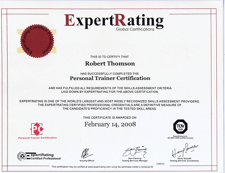 fitness personal training certification image
